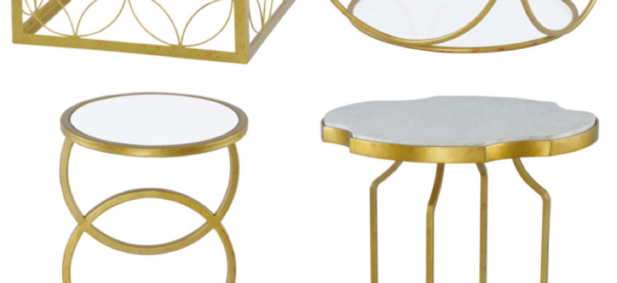 metallic tables from inspire line