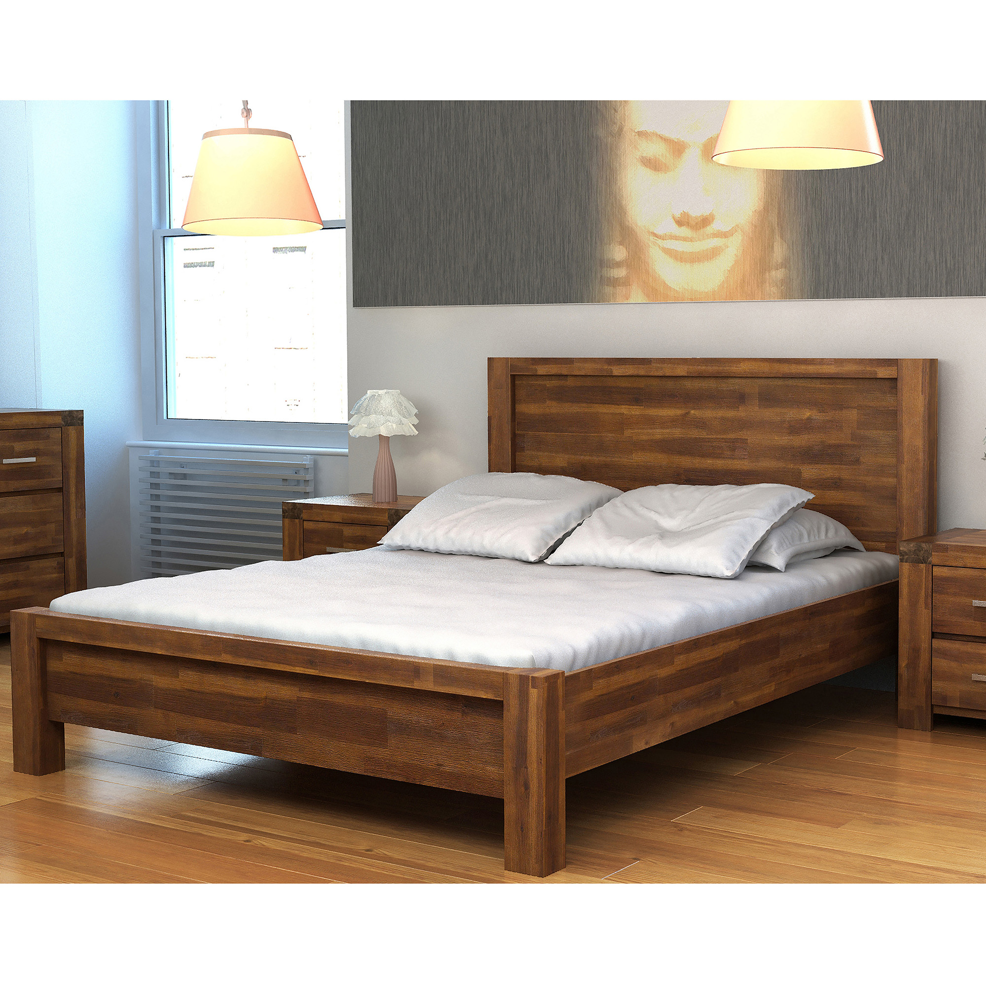 Wooden Bed By Inspire