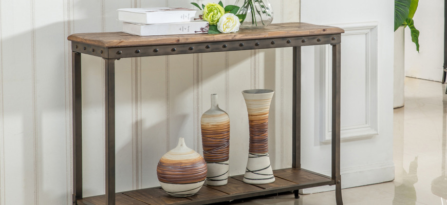 Reclaimed wooden Console Table by inspire