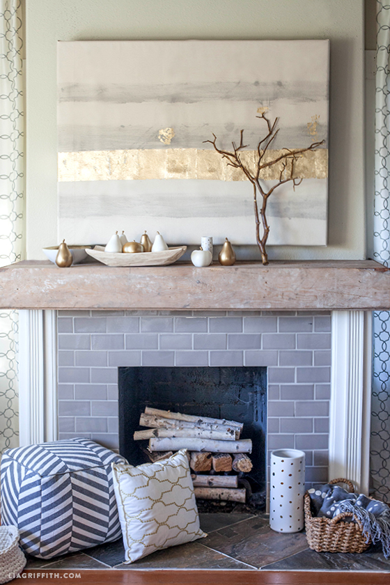 Simple accents make your fireplace beautiful.