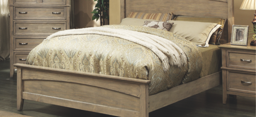 Make a statement with a Country French headboard.