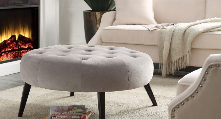 The styling options are endless with the Lydia Ottoman.