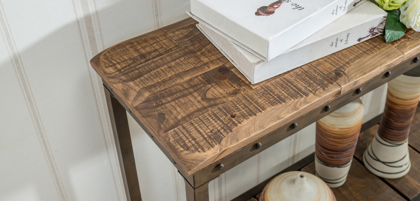 Complement your wooden floors with wooden accents for a gorgeous statement you can't ignore.