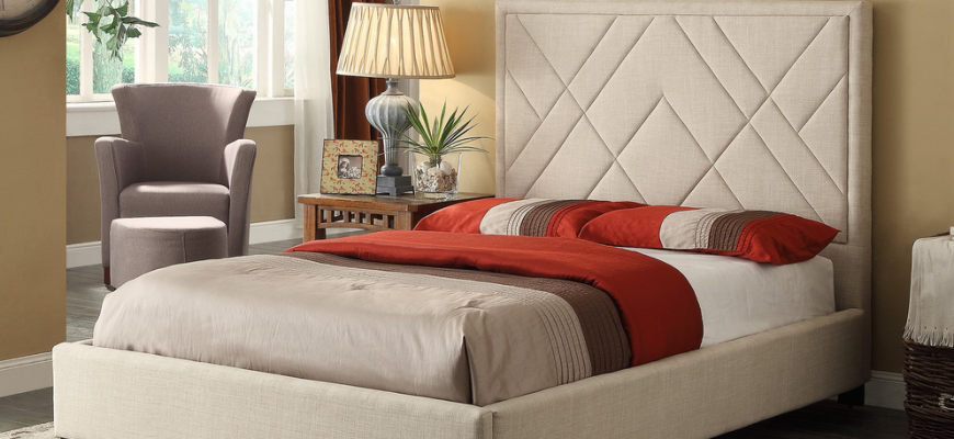 Who said beige had to be boring? Kick it up a notch with the Eva bed!