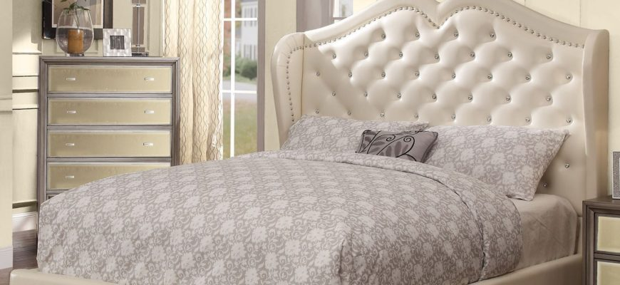 Anastasia Bed in Ivory - Room