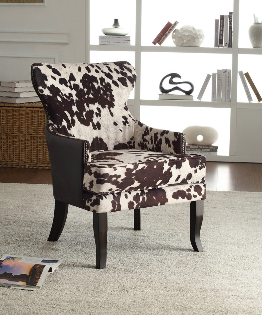 Cow Print Couch Two Faux Hide Henriksdal Chair Covers
