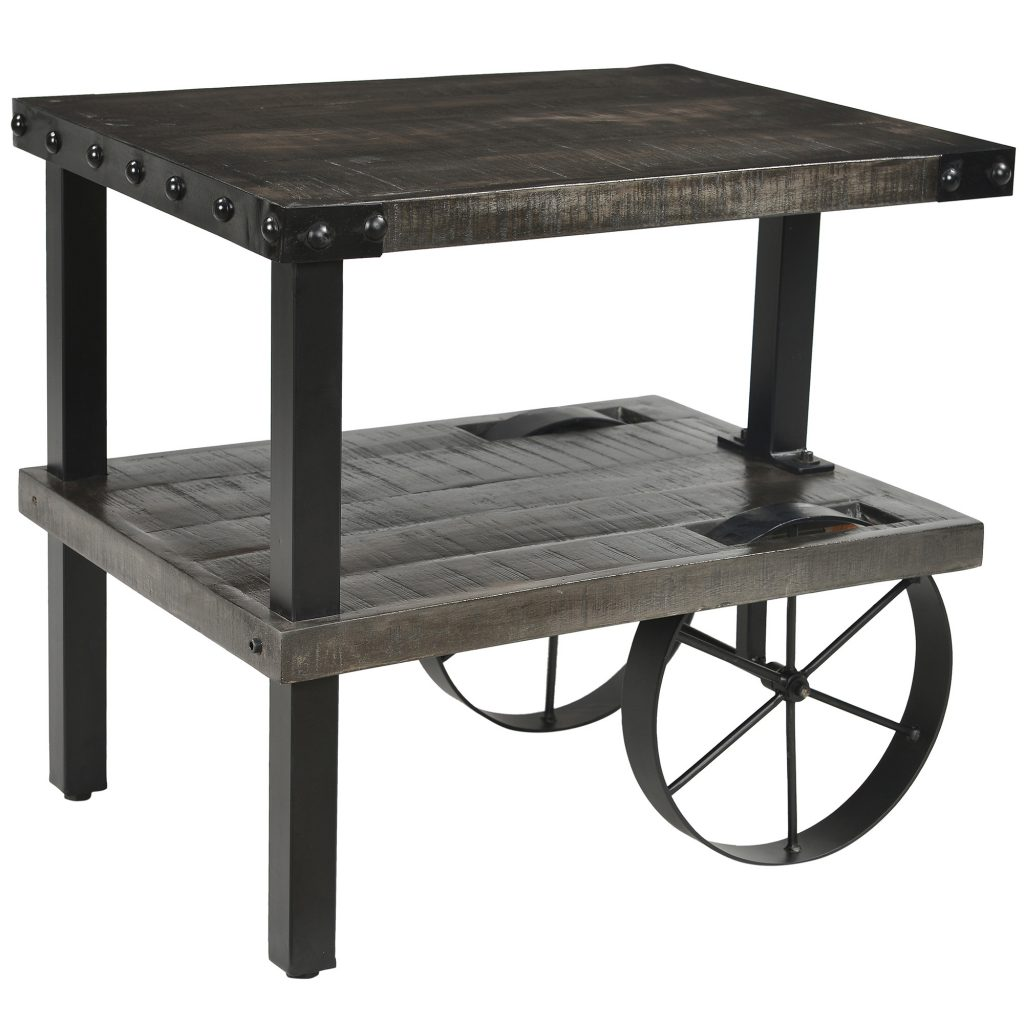Distressed or reclaimed wood for every room in the house zahir 501 133gy2 zahir accent table in distressed grey geotapseo Choice Image