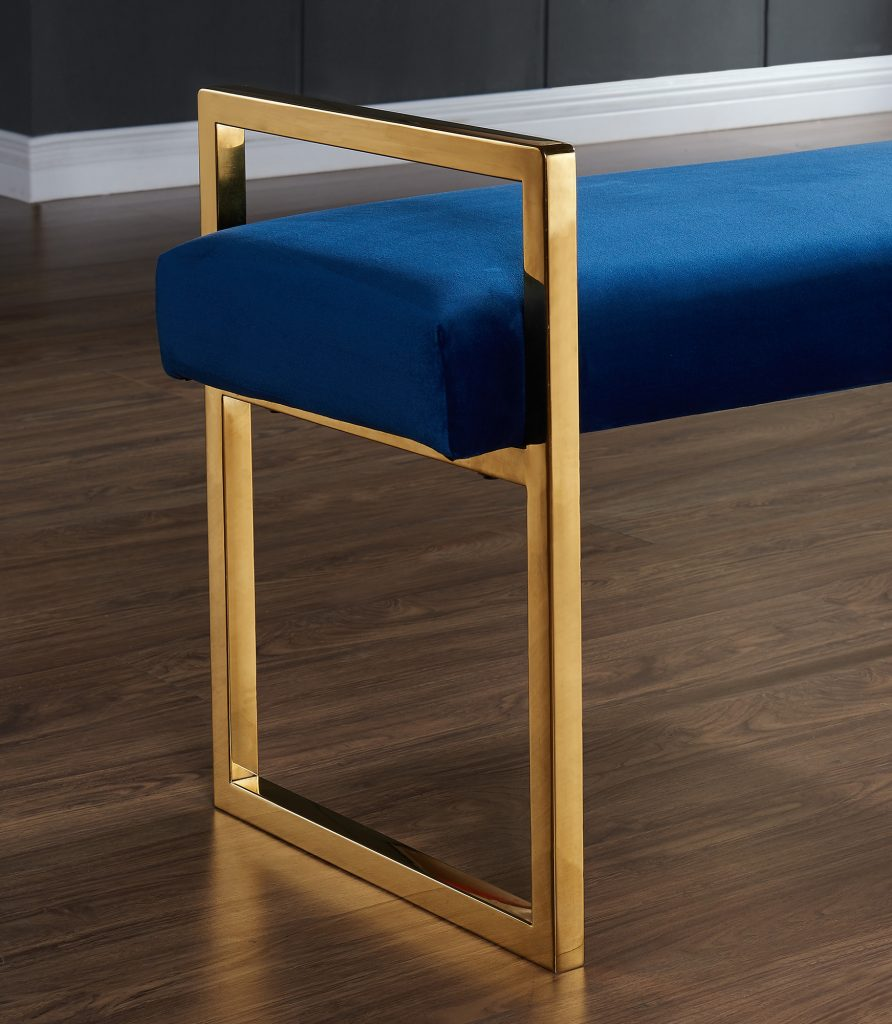 Paxon Double Bench in Blue