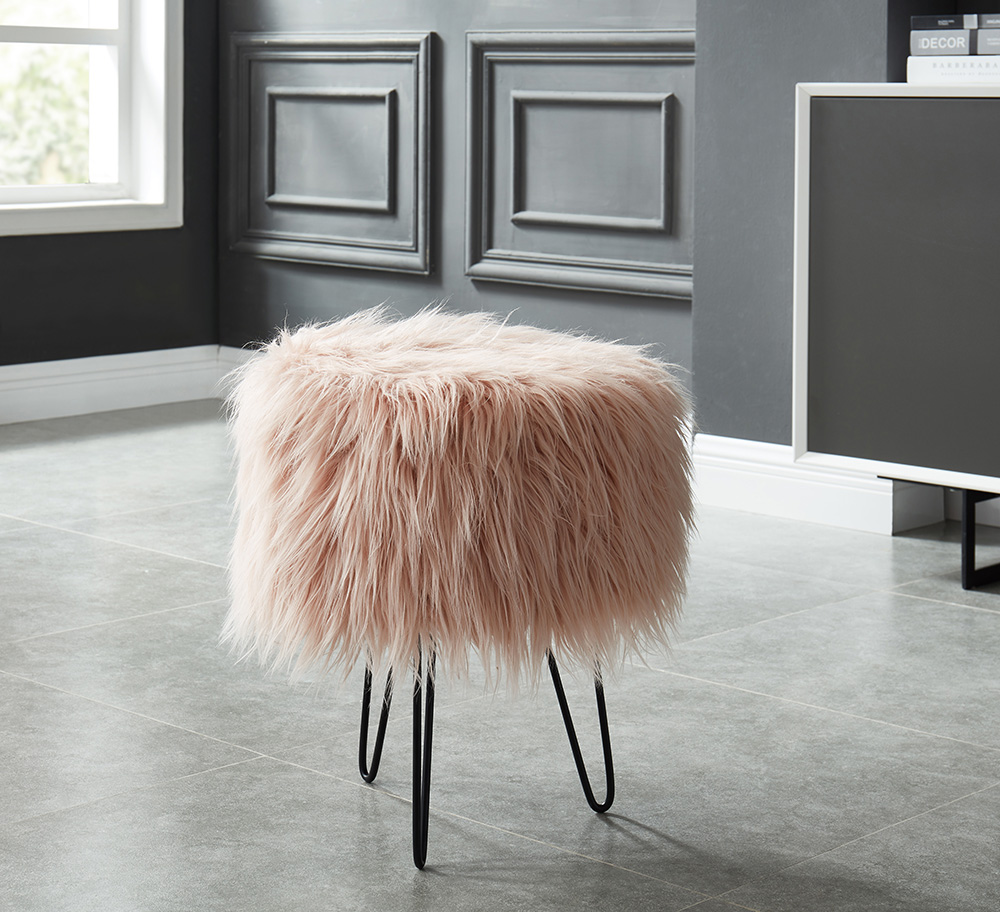 These adorable ottomans will satisfy all the blush cravings