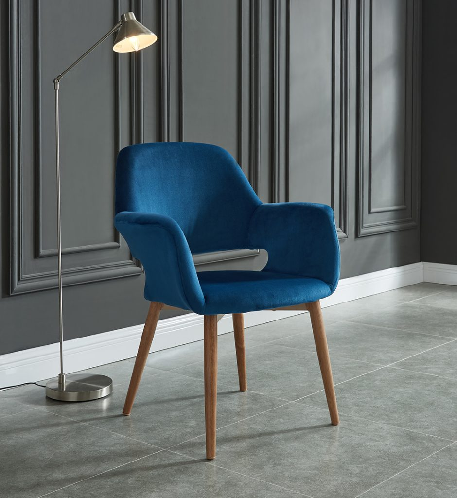 Velvet will help elevate the design feel of any space